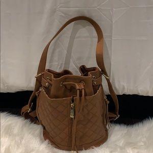 Cute faux leather camel purse